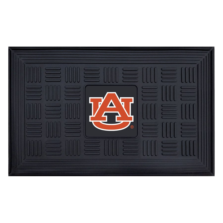 FANMATS Black with Official Team Logos and Colors Auburn University Rectangular Door Mat (Common: 19-in x 30-in; Actual: 19-in x 30-in)