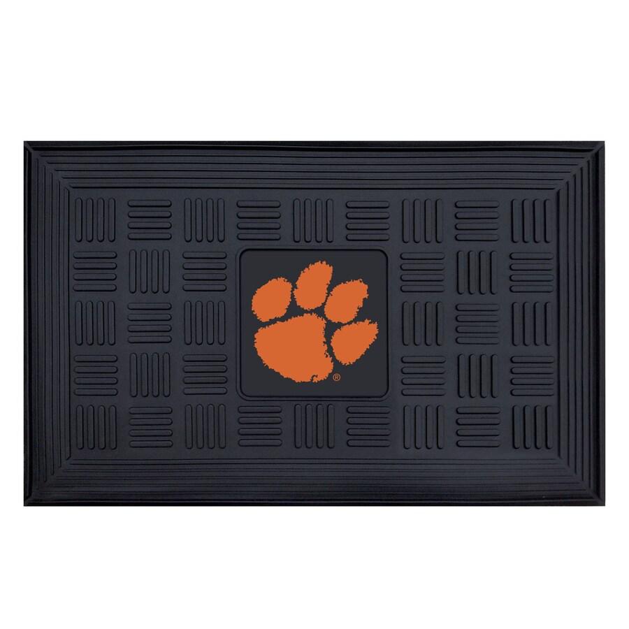 FANMATS Black with Official Team Logos and Colors Clemson University Rectangular Door Mat (Common: 19-in x 30-in; Actual: 19-in x 30-in)