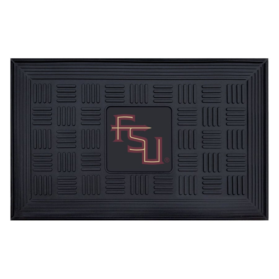 FANMATS Black with Official Team Logos and Colors Florida State University Rectangular Door Mat (Common: 19-in x 30-in; Actual: 19-in x 30-in)
