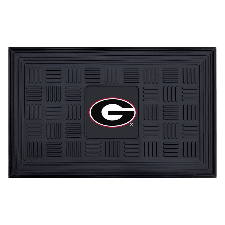 FANMATS Black with Official Team Logos and Colors University Of Georgia Rectangular Door Mat (Common: 19-in x 30-in; Actual: 19-in x 30-in)