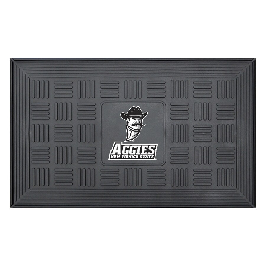 FANMATS Black with Official Team Logos and Colors New Mexico State University Rectangular Door Mat (Common: 19-in x 30-in; Actual: 19-in x 30-in)