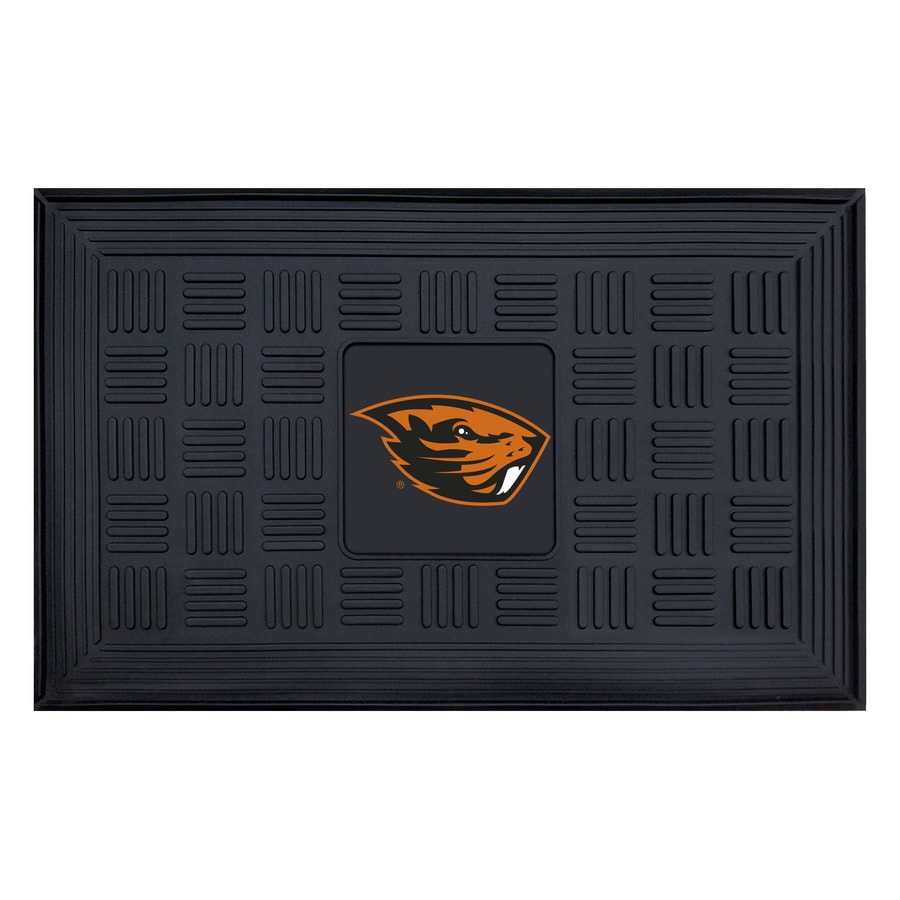 FANMATS Black Oregon State University Rectangular Door Mat (Common: 19-in x 30-in; Actual: 19-in x 30-in)