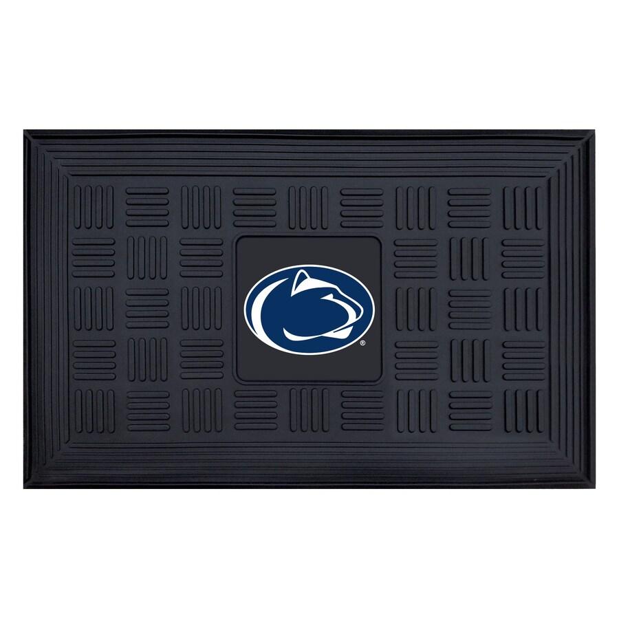 FANMATS Black Penn State Rectangular Door Mat (Common: 19-in x 30-in; Actual: 19-in x 30-in)
