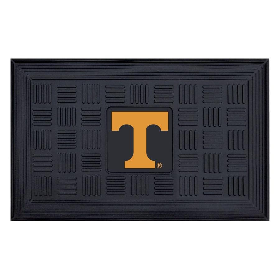 FANMATS Black University Of Tennessee Rectangular Door Mat (Common: 19-in x 30-in; Actual: 19-in x 30-in)