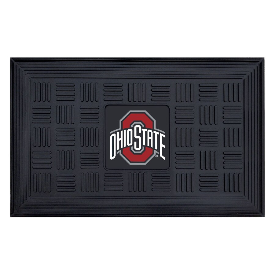FANMATS Black Ohio State University Rectangular Door Mat (Common: 19-in x 30-in; Actual: 19-in x 30-in)