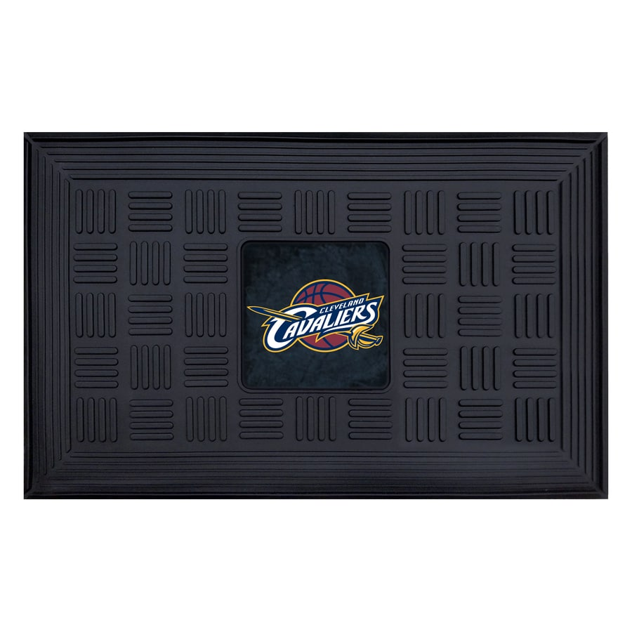 FANMATS Black Cleveland Cavaliers Rectangular Door Mat (Common: 19-in x 30-in; Actual: 19-in x 30-in)