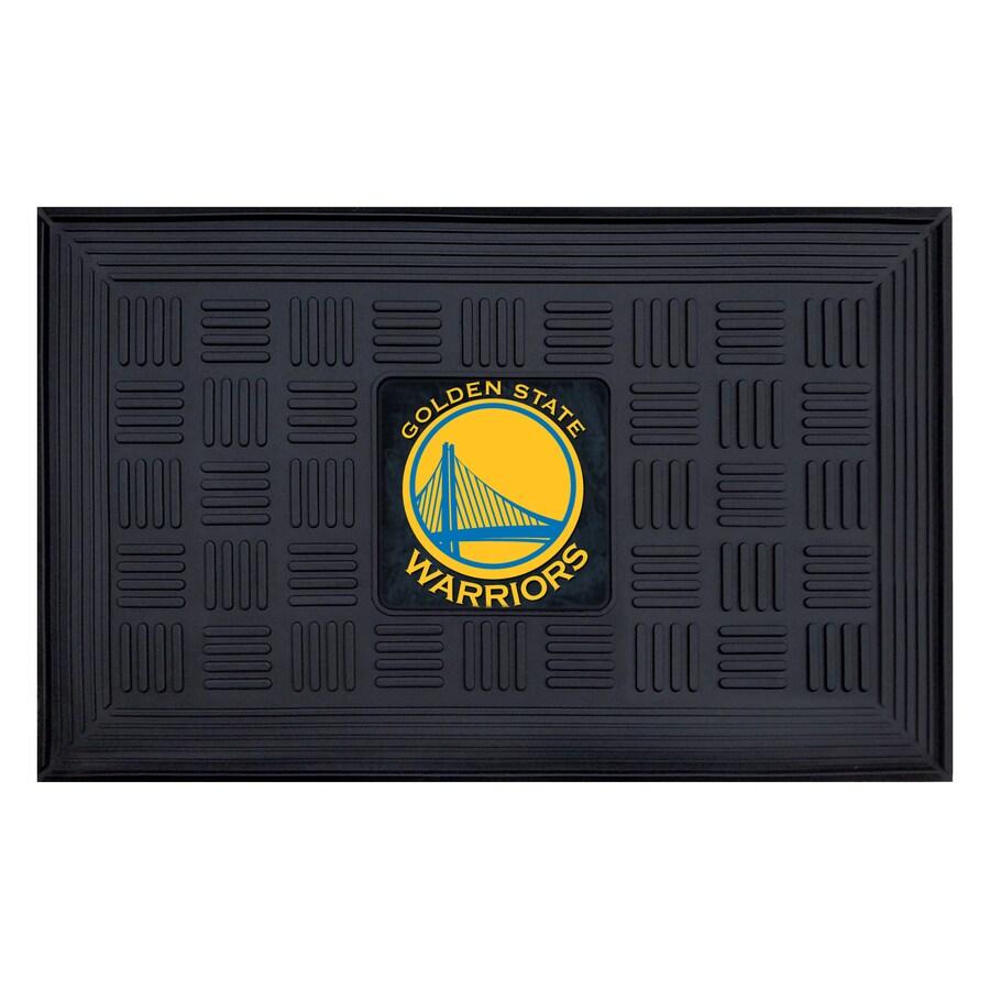 FANMATS Black Golden State Warriors Rectangular Door Mat (Common: 19-in x 30-in; Actual: 19-in x 30-in)