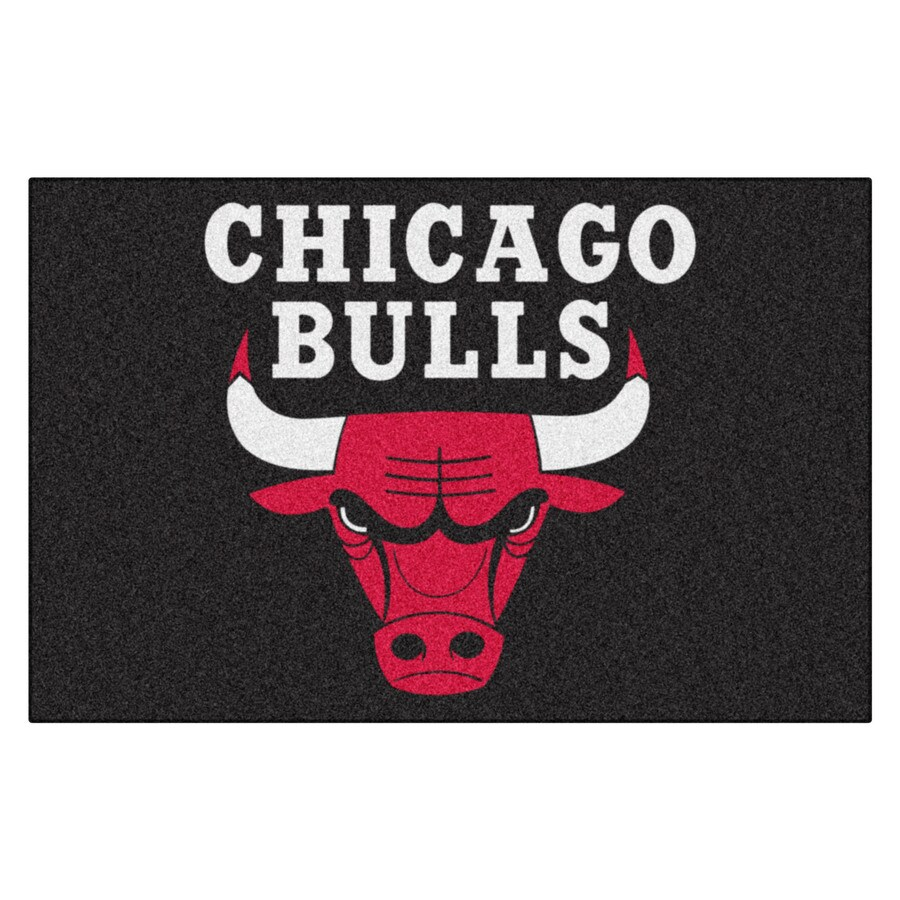 FANMATS Chicago Bulls Rectangular Indoor Tufted Sports Throw Rug (Common: 1-1/2 x 2-1/2; Actual: 1.583-ft W x 2.5-ft L x dia)