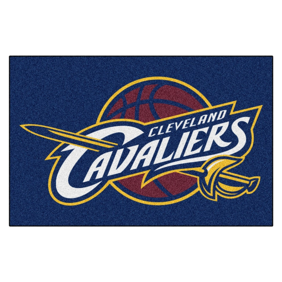 FANMATS Cleveland Cavaliers Team Color Rectangular Indoor Tufted Sports Throw Rug (Common: 1-1/2 x 2-1/2; Actual: 19-ft W x 30-ft L)