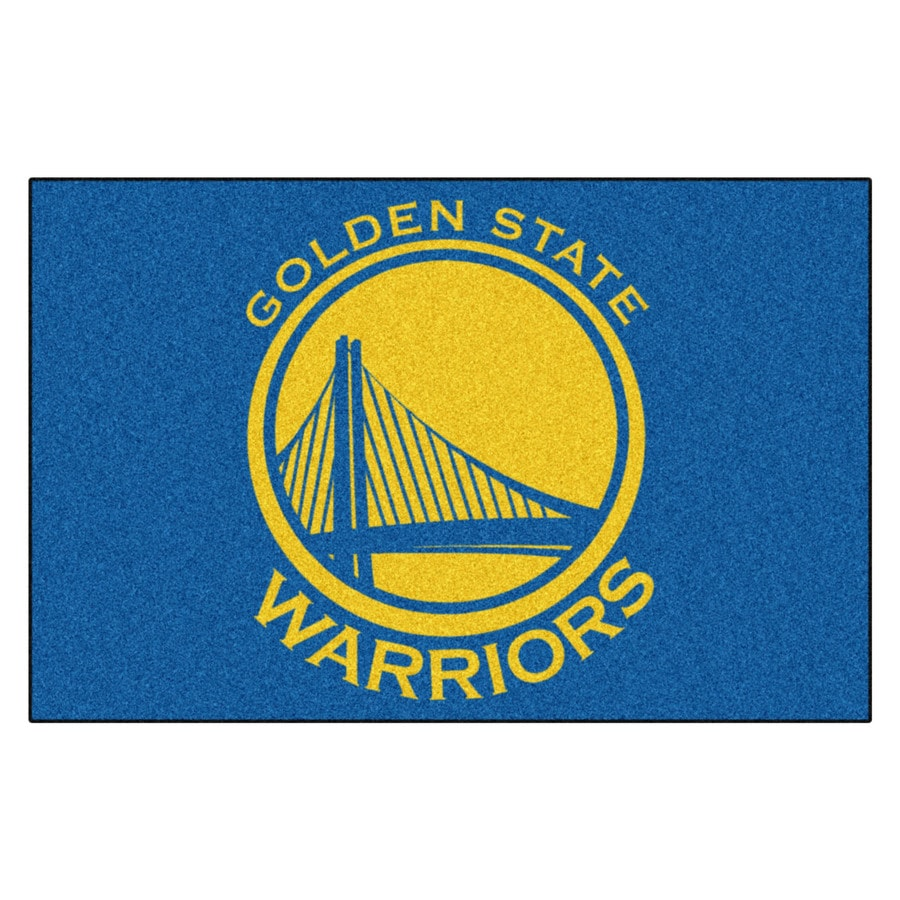 FANMATS Golden State Warriors Team Color Rectangular Indoor Tufted Sports Throw Rug (Common: 1-1/2 x 2-1/2; Actual: 19-in W x 30-in L x 0-ft Dia)