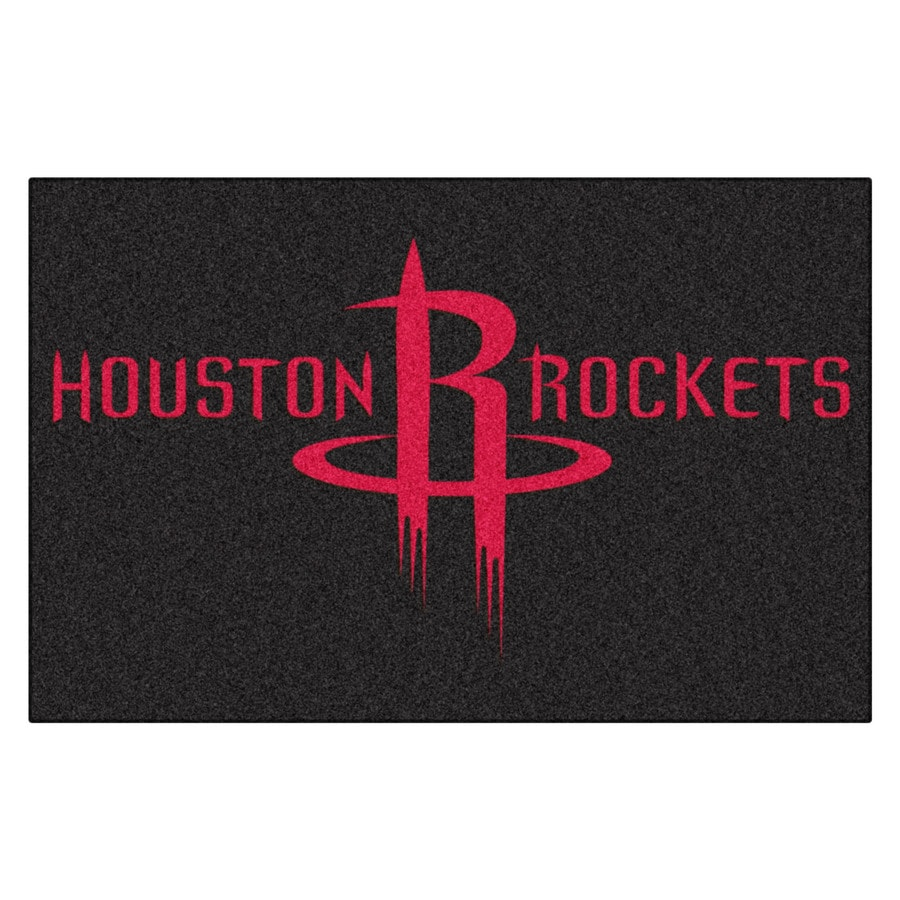FANMATS Houston Rockets Rectangular Indoor Tufted Sports Throw Rug (Common: 1-1/2 x 2-1/2; Actual: 1.583-ft W x 2.5-ft L x dia)