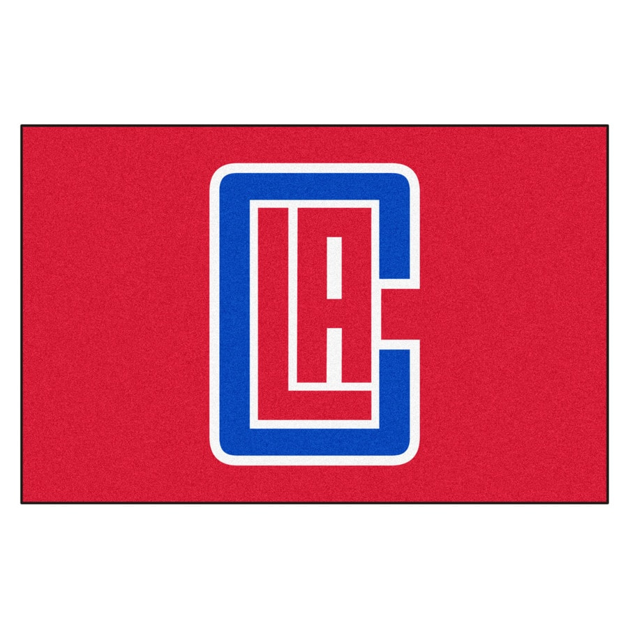 FANMATS Los Angeles Clippers Rectangular Indoor Tufted Sports Throw Rug (Common: 1-1/2 x 2-1/2; Actual: 1.583-ft W x 2.5-ft L x dia)