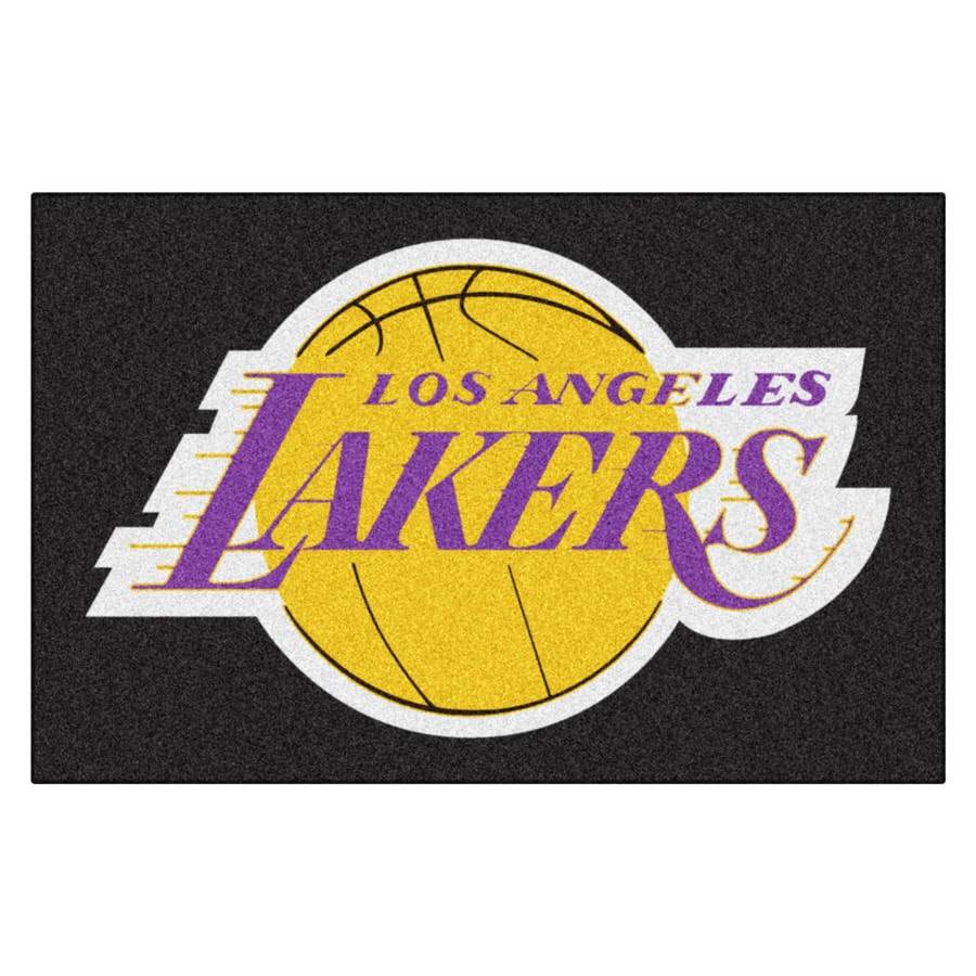 FANMATS Los Angeles Lakers Rectangular Indoor Tufted Sports Throw Rug (Common: 1-1/2 x 2-1/2; Actual: 1.583-ft W x 2.5-ft L x dia)