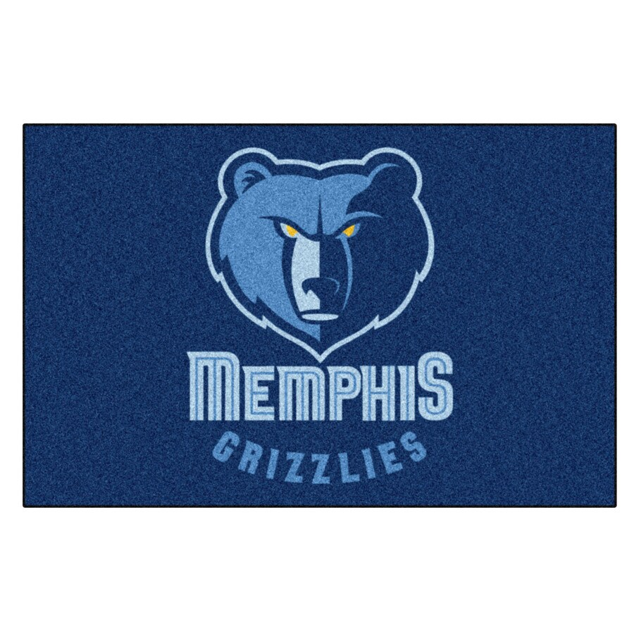 FANMATS Memphis Grizzlies Team Color Rectangular Indoor Tufted Sports Throw Rug (Common: 1-1/2 x 2-1/2; Actual: 19-in W x 30-in L x 0-ft Dia)