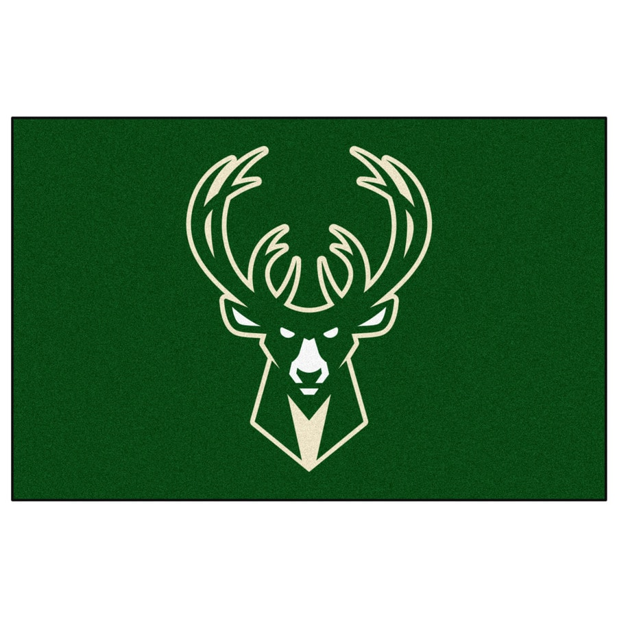 FANMATS Milwaukee Bucks Rectangular Indoor Tufted Sports Throw Rug (Common: 1-1/2 x 2-1/2; Actual: 1.583-ft W x 2.5-ft L x dia)