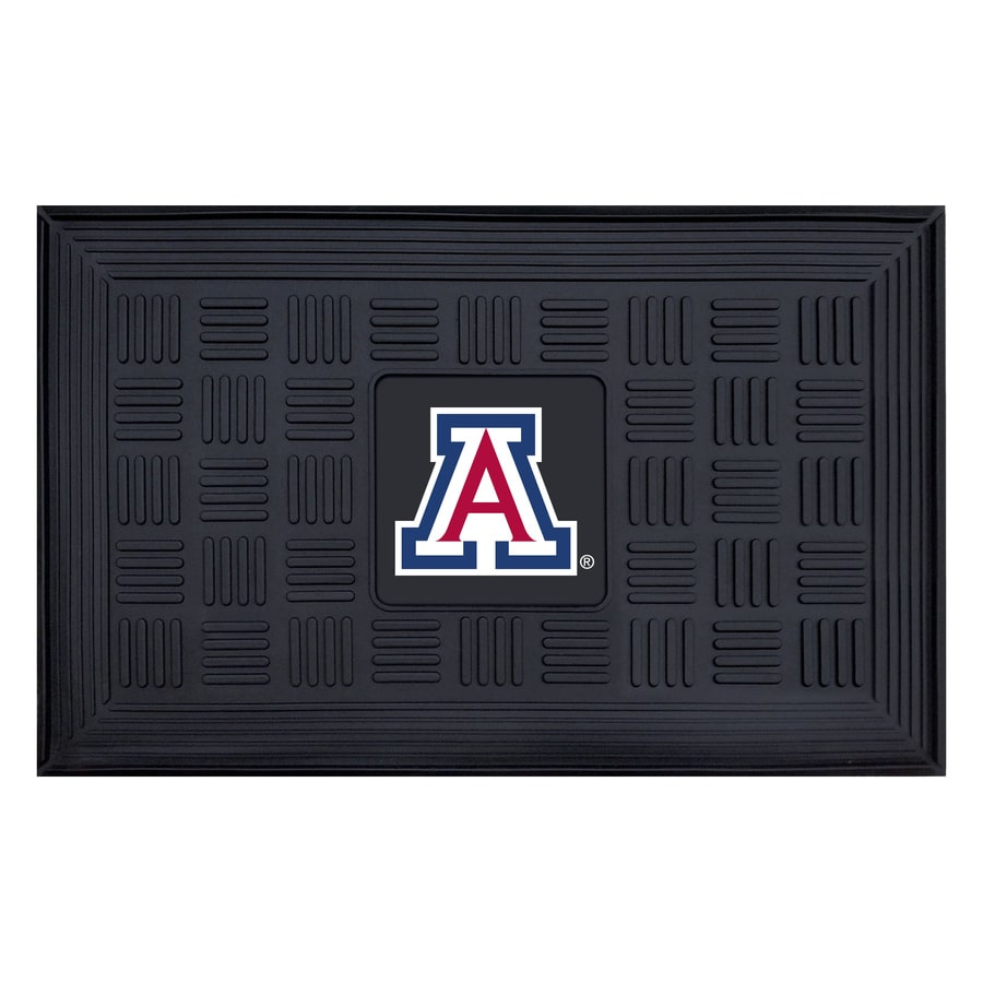 FANMATS Black with Official Team Logos and Colors University Of Arizona Rectangular Door Mat (Common: 19-in x 30-in; Actual: 19-in x 30-in)