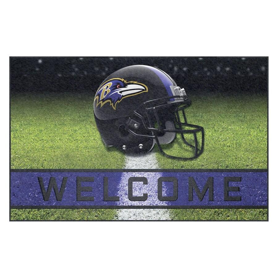 FANMATS Multicolor Baltimore Ravens Rectangular Door Mat (Common: 18-in x 30-in; Actual: 18-in x 30-in)