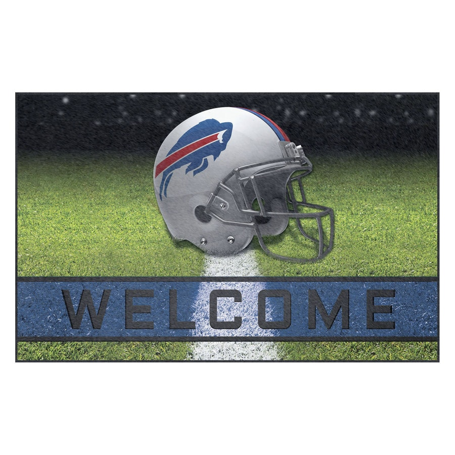 FANMATS Multicolor Buffalo Bills Rectangular Door Mat (Common: 18-in x 30-in; Actual: 18-in x 30-in)