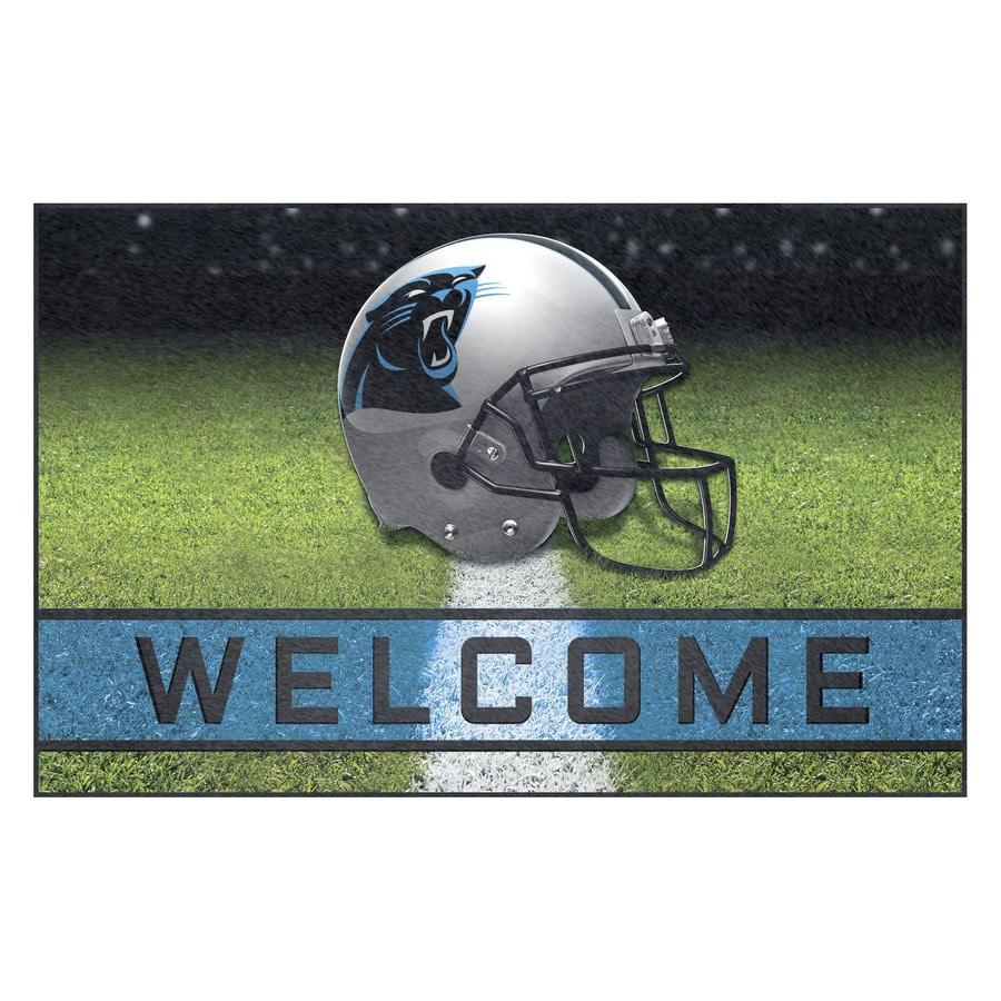 FANMATS Multicolor Carolina Panthers Rectangular Door Mat (Common: 18-in x 30-in; Actual: 18-in x 30-in)