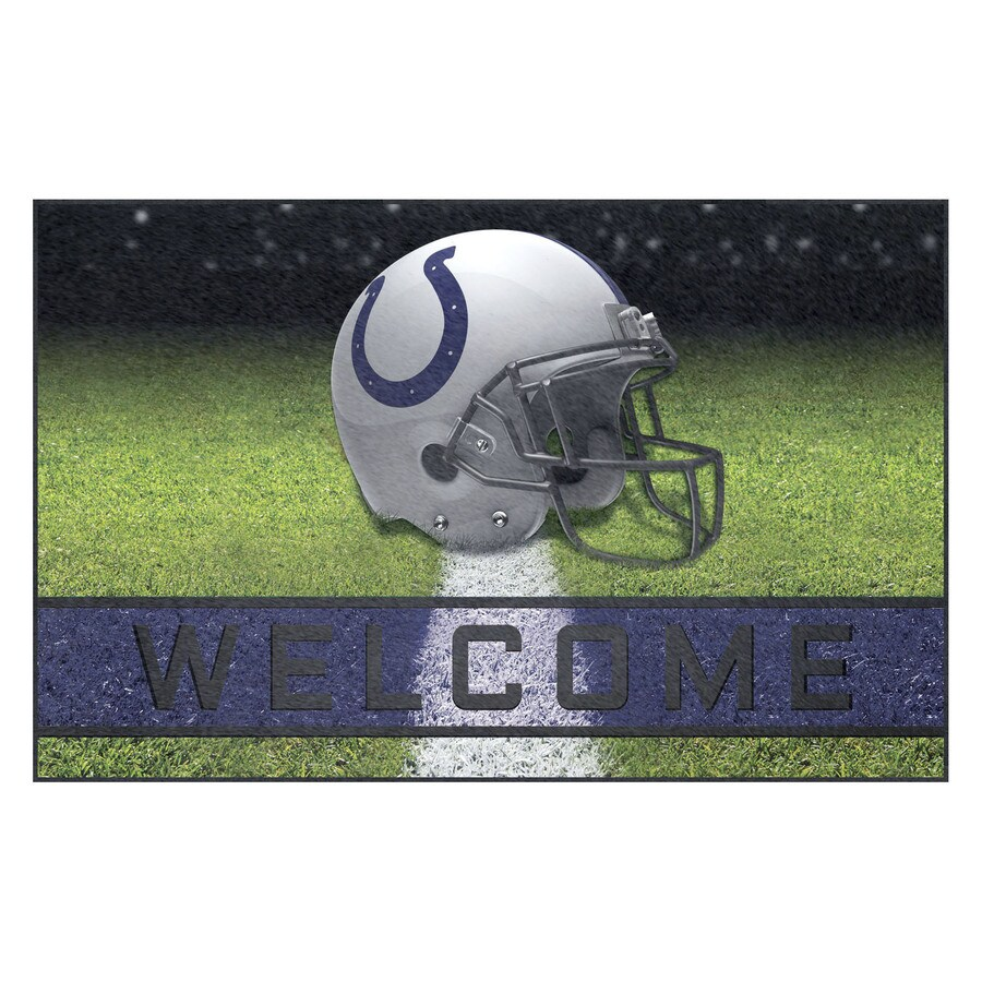 FANMATS Multicolor Indianapolis Colts Rectangular Door Mat (Common: 18-in x 30-in; Actual: 18-in x 30-in)