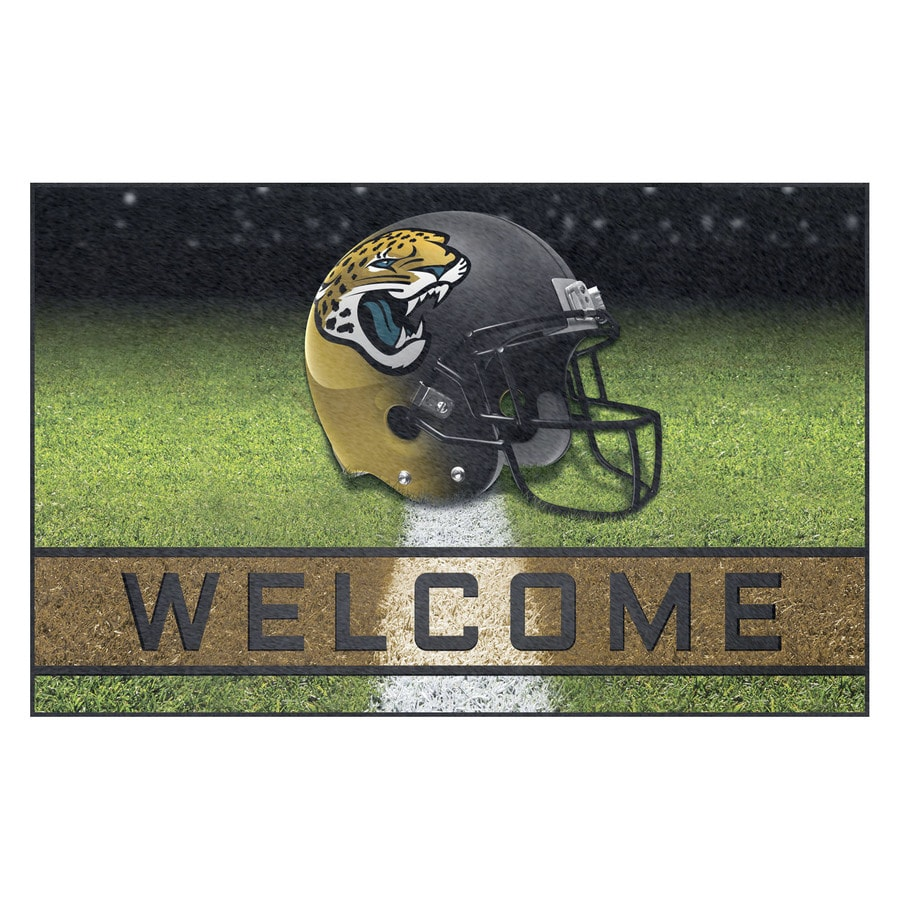 FANMATS Multicolor Jacksonville Jaguars Rectangular Door Mat (Common: 18-in x 30-in; Actual: 18-in x 30-in)