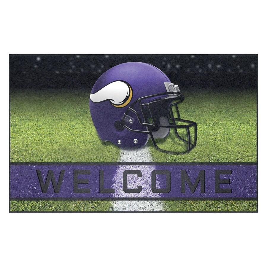 FANMATS Multicolor Minnesota Vikings Rectangular Door Mat (Common: 18-in x 30-in; Actual: 18-in x 30-in)