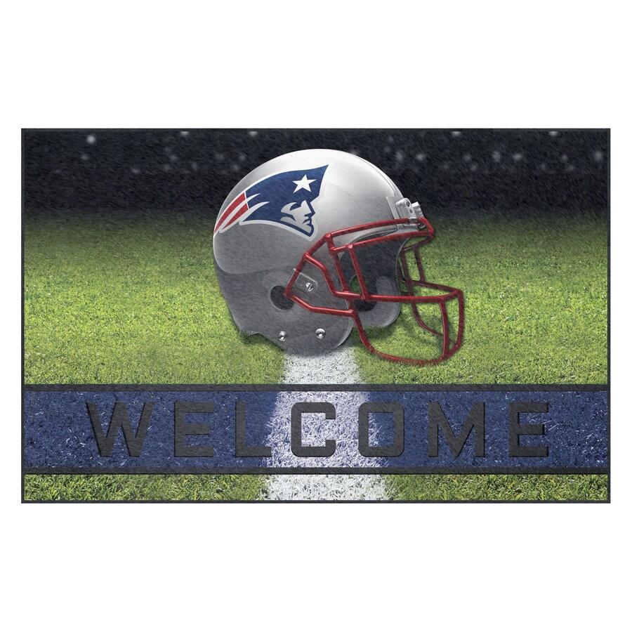 FANMATS Multicolor New England Patriots Rectangular Door Mat (Common: 18-in x 30-in; Actual: 18-in x 30-in)
