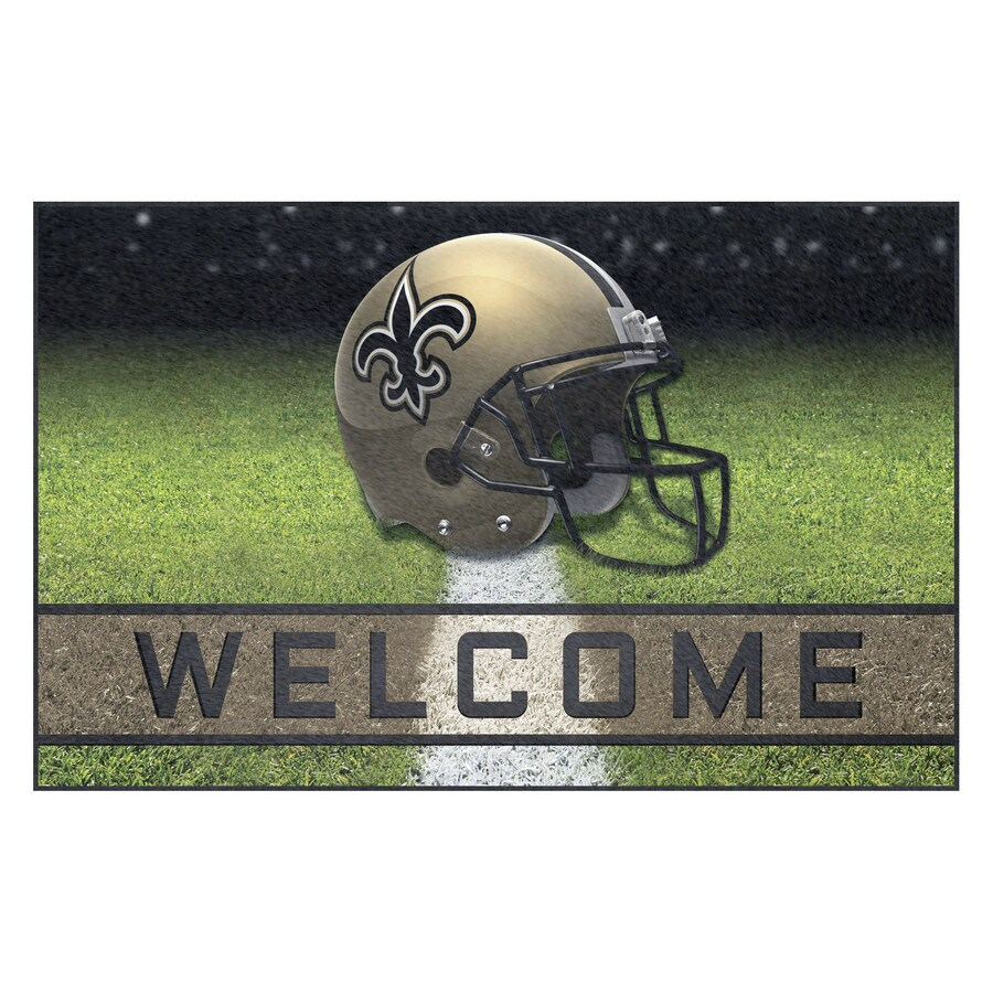 FANMATS Multicolor New Orleans Saints Rectangular Door Mat (Common: 18-in x 30-in; Actual: 18-in x 30-in)