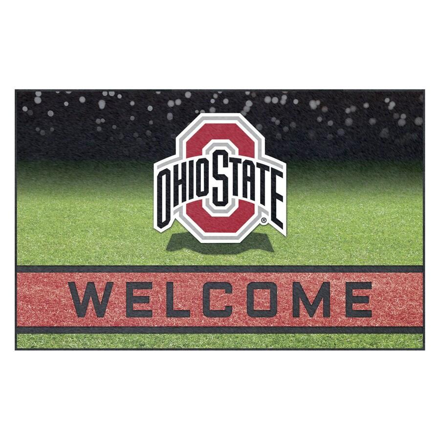 FANMATS Multicolor Ohio State University Rectangular Door Mat (Common: 18-in x 30-in; Actual: 18-in x 30-in)