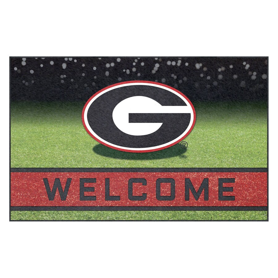 FANMATS Multicolor University of Georgia Rectangular Door Mat (Common: 18-in x 30-in; Actual: 18-in x 30-in)