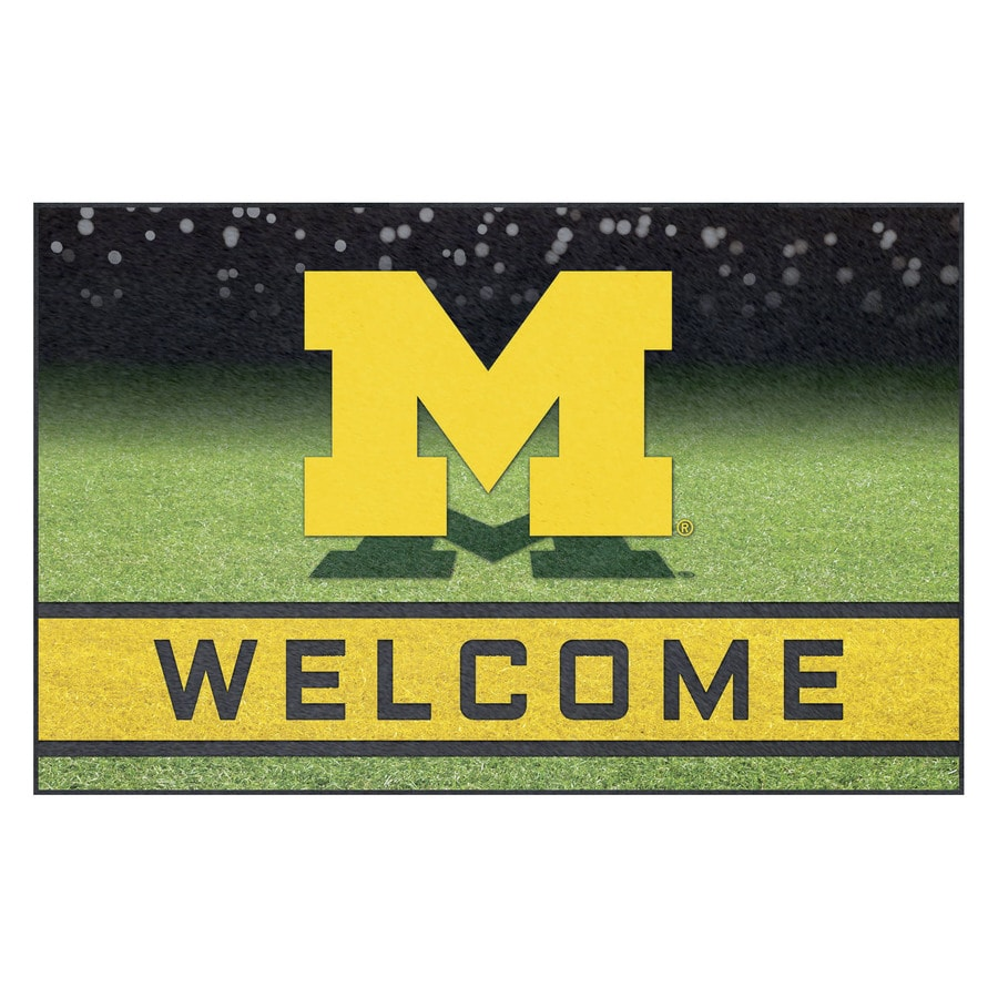 FANMATS Multicolor University of Michigan Rectangular Door Mat (Common: 18-in x 30-in; Actual: 18-in x 30-in)