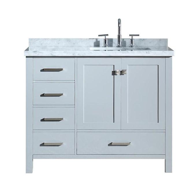 ARIEL Cambridge 43-in Grey Single Sink Bathroom Vanity ...
