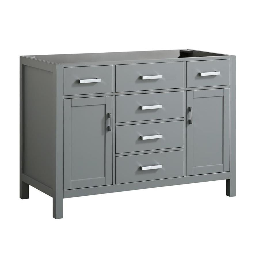 Belmont Decor Hampton 48 In. Single Sink Base Cabinet In Grey