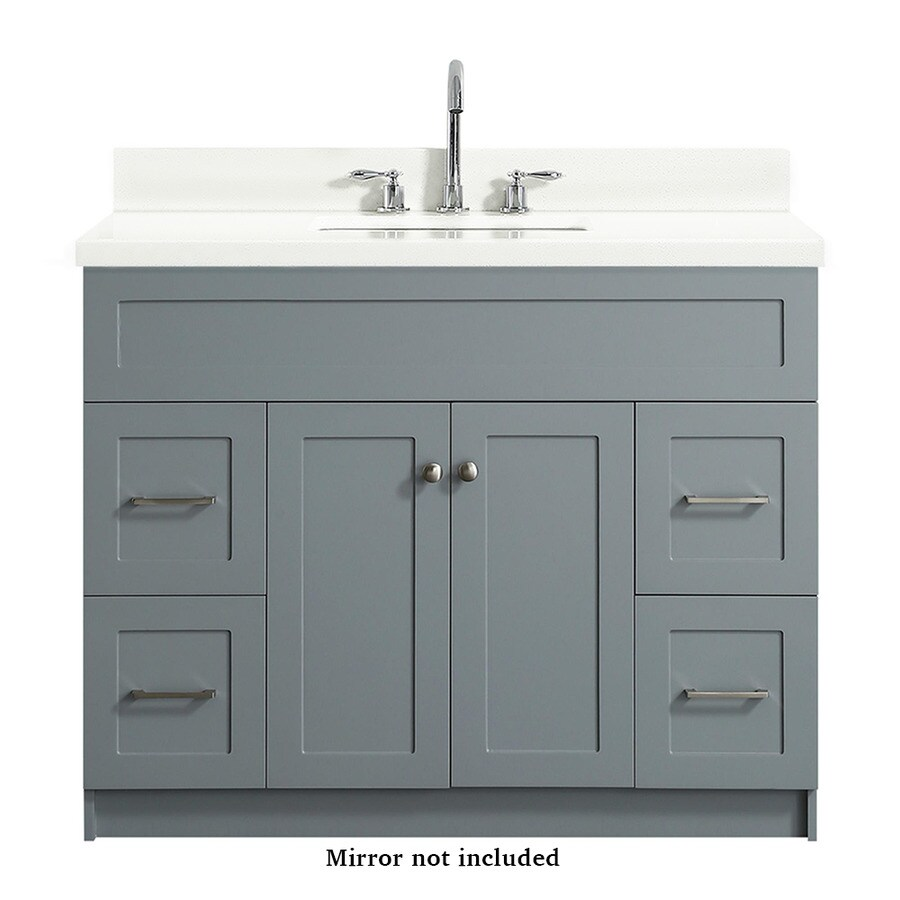 ARIEL Hamlet 43-in Gray Single Sink Bathroom Vanity with ...
