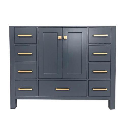 Ariel Cambridge 42 In Midnight Blue Bathroom Vanity Cabinet At Lowes Com