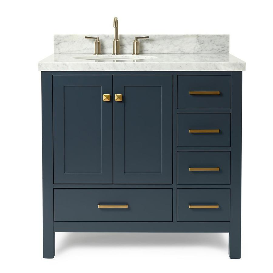 Ariel Cambridge 37 In Midnight Blue Single Sink Bathroom