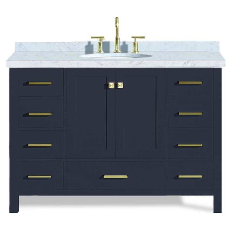 Ariel Cambridge 49 In Midnight Blue Single Sink Bathroom