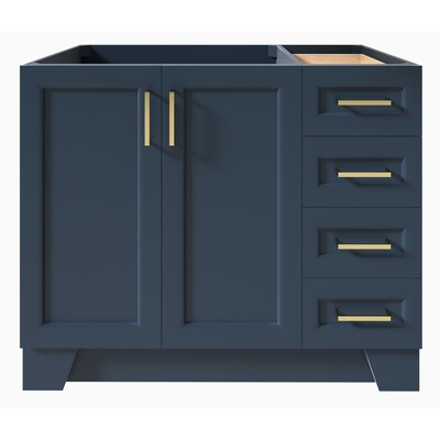Ariel Taylor 42 In Midnight Blue Bathroom Vanity Cabinet At