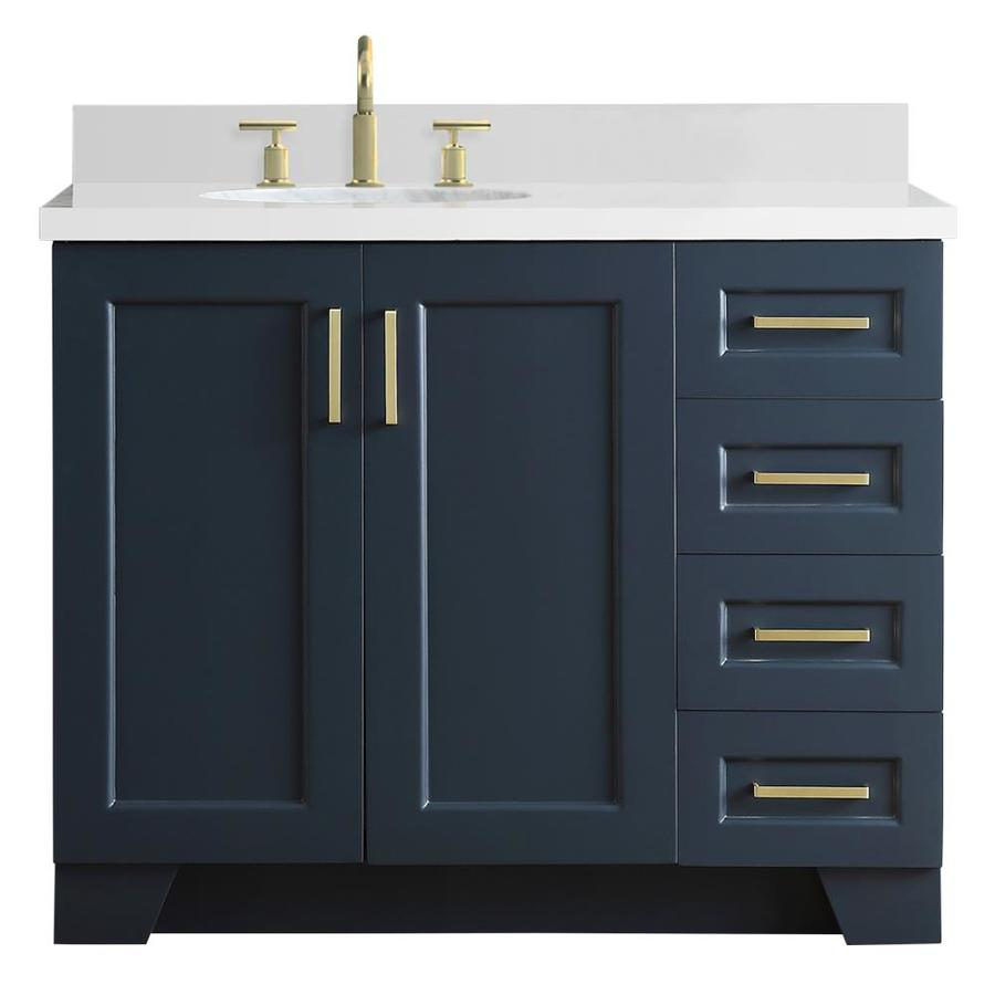 Ariel Taylor 43 In Midnight Blue Single Sink Bathroom