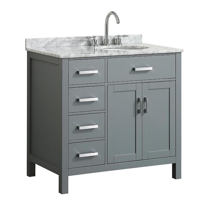 Beaumont Decor Hampton 37-in Gray Single Sink Bathroom ...
