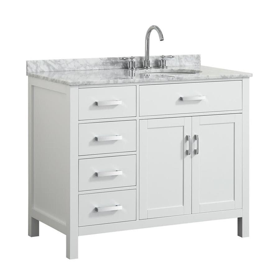 Belmont Decor Hampton 43-in White Single Sink Bathroom ...