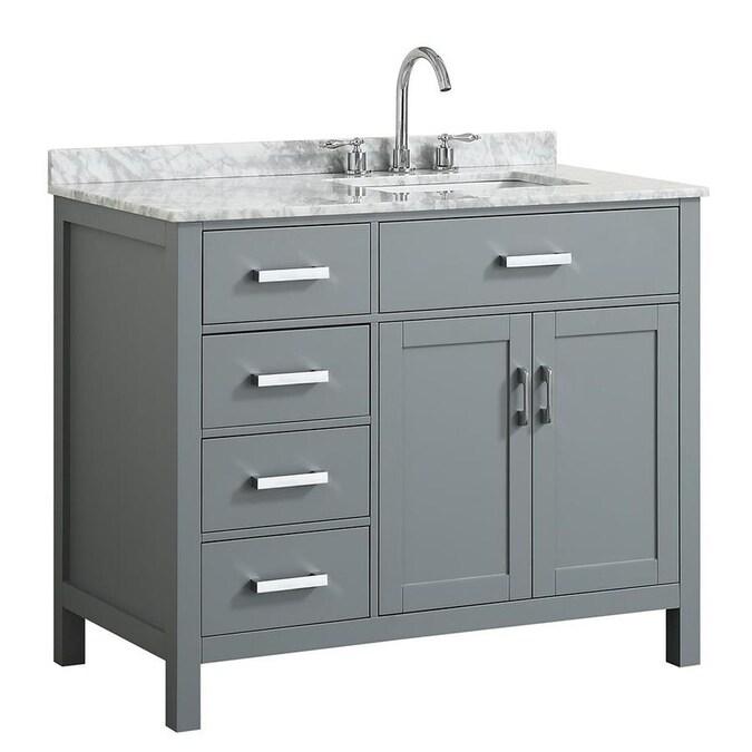 Beaumont Decor Hampton 43-in Gray Single Sink Bathroom ...