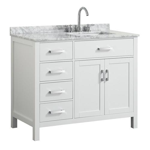 Beaumont Decor Hampton 43-in White Single Sink Bathroom ...