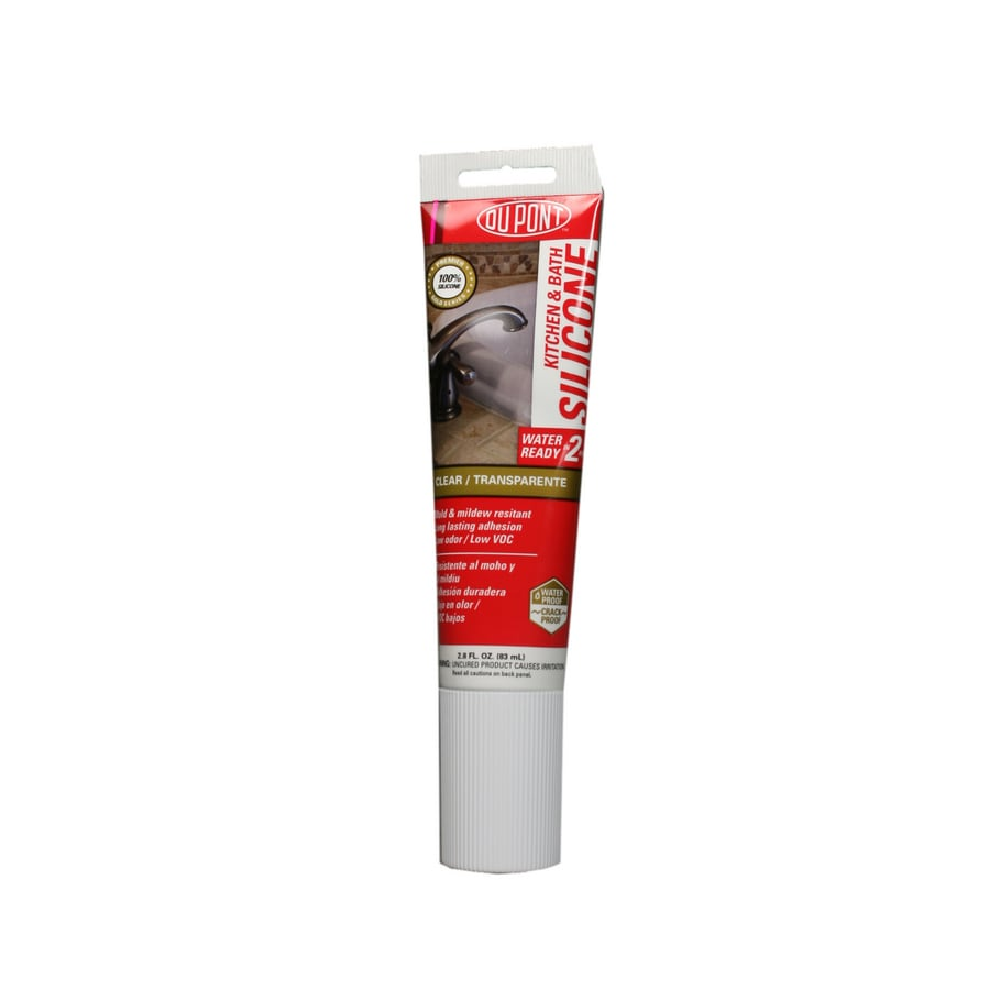 DuPont 2.8-oz Clear Silicone Kitchen and Bathroom Caulk