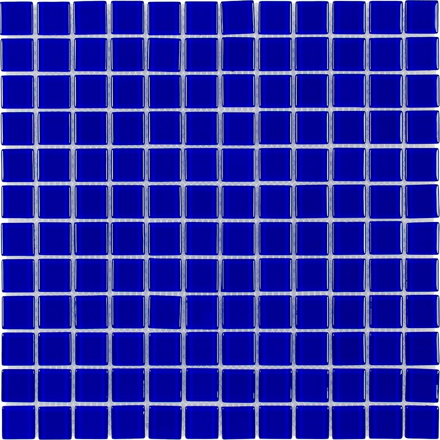 shop elida ceramica royal blue uniform squares mosaic glass wall tile