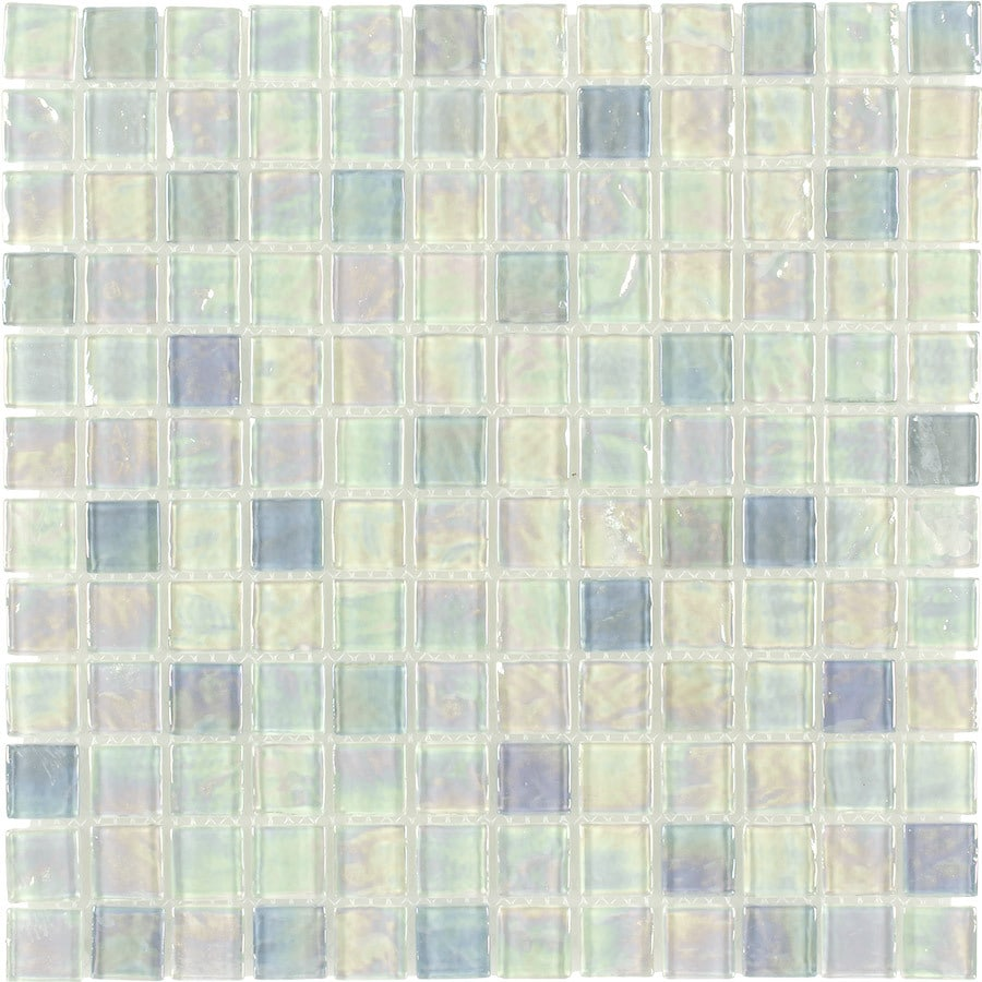 elida ceramica blue oil uniform squares mosaic glass wall tile common