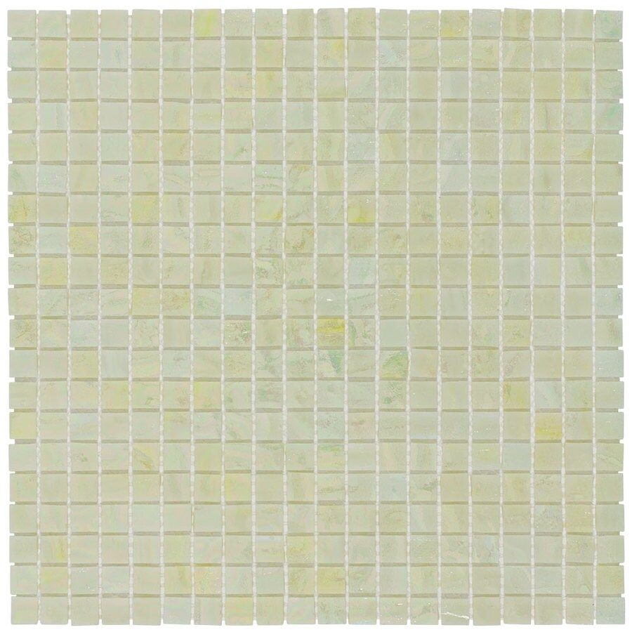 Elida Ceramica Belini Uniform Squares Mosaic Glass Wall Tile (Common: 13-in x 13-in; Actual: 12.75-in x 12.75-in)