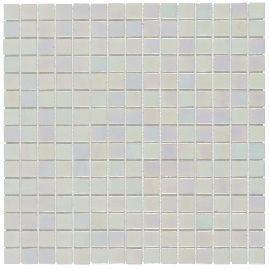 Elida Ceramica Pearl Uniform Squares Mosaic Glass Wall Tile (Common: 13-in x 13-in; Actual: 12.75-in x 12.75-in)