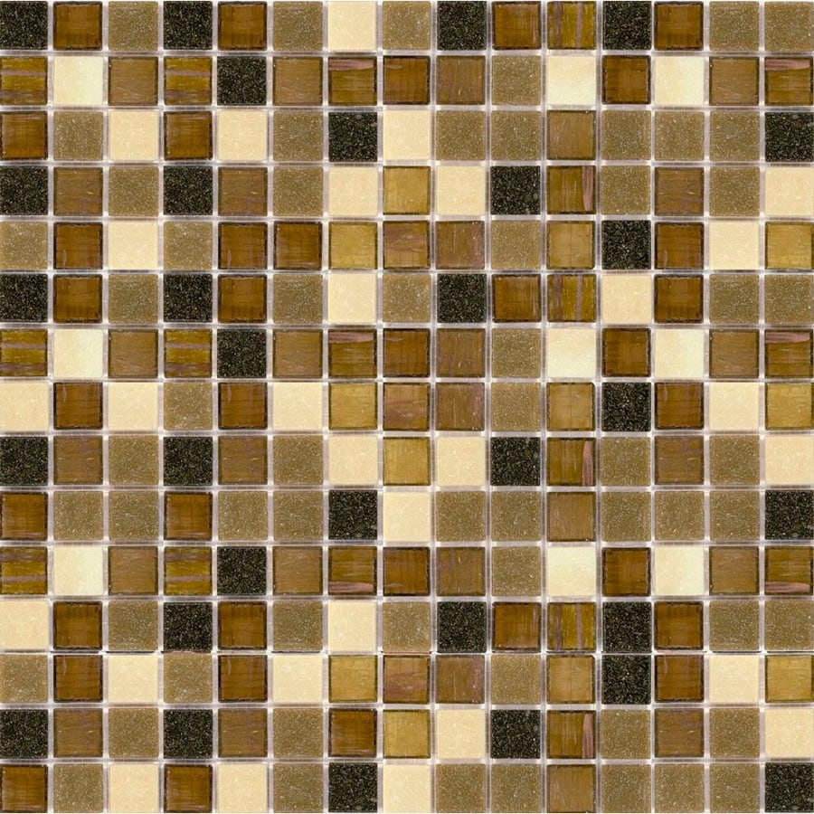 Elida Ceramica 13-in x 13-in Multicolor Glass Mosaic Square Wall Tile (Actuals 13-in x 13-in)