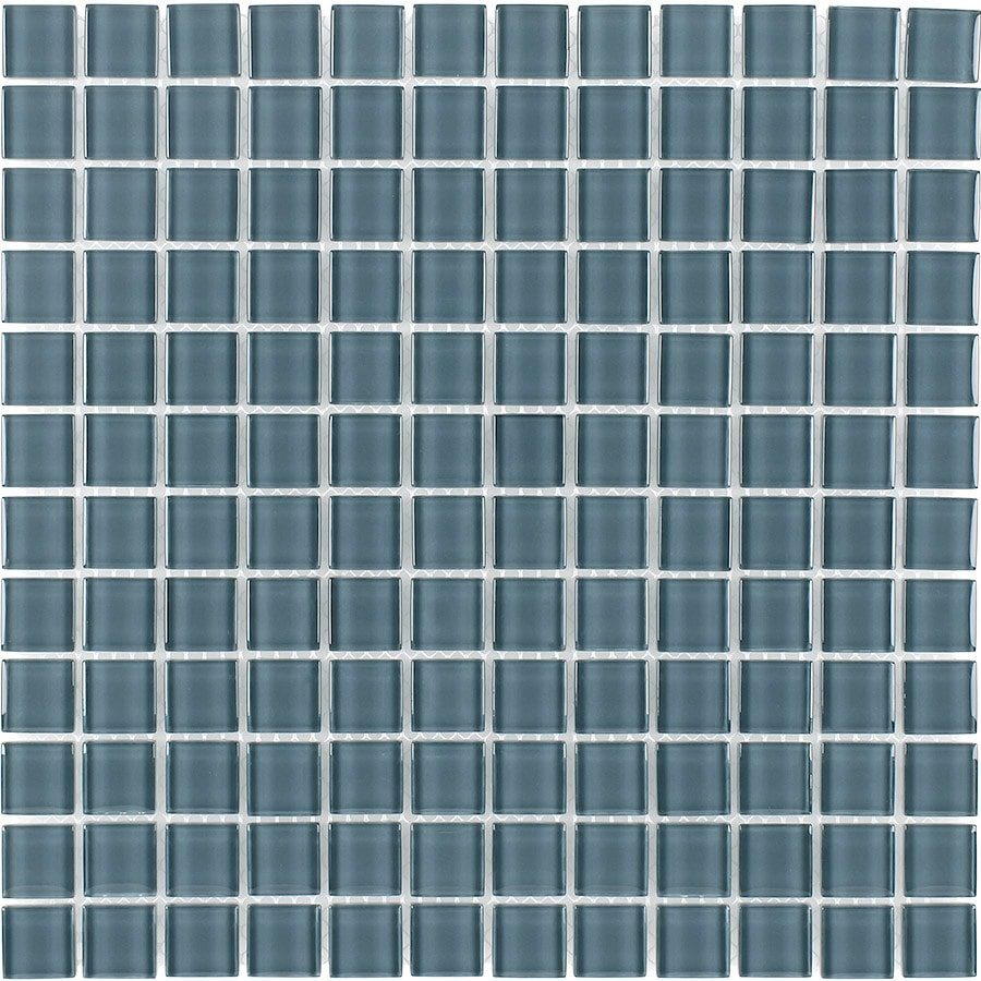 Elida Ceramica Arctic Grey Uniform Squares Mosaic Glass Wall Tile (Common: 12-in x 12-in; Actual: 11.75-in x 11.75-in)